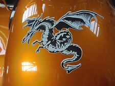 "DECALS DRAGON MOTORCYCLE. KAWASAKI DRAGON. 4 3/4"" X 6"". VINYL. WINDOW DECAL"