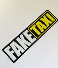 Fake Taxi Shocker Autoaufkleber Tuning Sticker DUB Decal dapper illest Turbo JDM