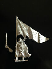 Warhammer Lord of The Rings LOTR - Rohan Command Banner Bearer Rare Metal OOP