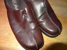 LIFE STRIDE Lifestride EVA Ladies Womens Brown Shoe Clog Size 7.5M Low Heel L@@K