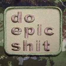DO EPIC SH*T USA ARMY MORALE US MILITARY TACTICAL BADGE MULTICAM VELCRO PATCH