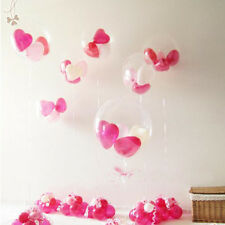 "Wholesale 100Pcs Transparent Latex Balloons Birthday Wedding Party Decor 10"" New"