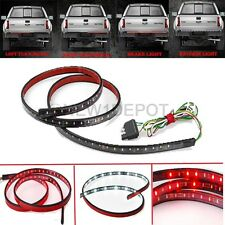 60'' Car Trunk Tailgate Stripe Red/White LED Flexible 5-Function Light Bar ND