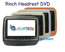 1X best 9 Inch HD LED Screen Headrest monitor with DVD CD Player USB SD For BMW