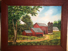 "Super Nice Isabelle Frantz ""Farm And Barn Scene"" Oil Painting - Signed/Framed"