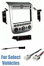 SILVER CAR STEREO RADIO INSTALL DASH MOUNT KIT COMBO for 03-07 NISSAN MURANO