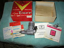 VINTAGE G 40 RC MODEL AIRPLANE ENGINE W/BOX & PAPER EXTRA PARTS DATED 1965