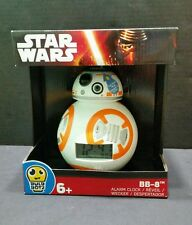 DISNEY LUCAS FILMS STAR FORCE  BB 8 DROID ALARM CLOCK LIGHT UP DIGITAL CLOCK