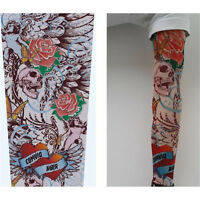 Fashion 10 models Mix Nylon Stretchy Temporary Tattoo Sleeves Arm Stocking Cover