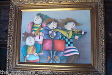"Roybal oil painting original oil painting on canvas ""Budding Virtuosos""[a6]"