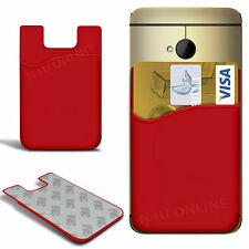 Slim Silicone Stick On Credit / Debit Card Slot Skin Cover for Various Mobiles