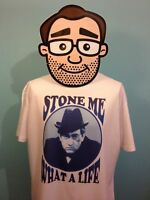 Tony Hancock - British Comedian T-Shirt (Stone Me What A Life) - White Shirt