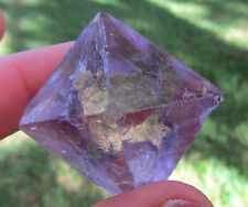** Mike New Collection ** Gemmy Fluorite Octahedron Cave In Rock Illinois 4.4 Cm
