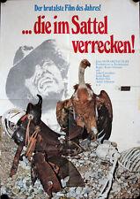 Die im Sattel verrecken Filmposter A1 Cain's Cutthroats John Carradine Western
