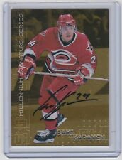99-00 1999-00 BE A PLAYER MILLENNIUM SAMI KAPANEN AUTOGRAPH GOLD 49 HURRICANES