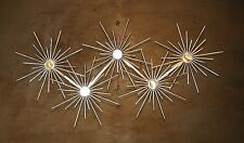 Abstract Metal Sculpture Atomic Sunbursts  Wall Art Mid Century Modern Retro