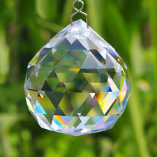 One Hanging 90g CRYSTAL BALL 40mm Sphere Prism Faceted Sun Catcher Clear Pendant