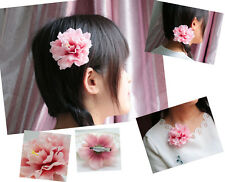 NEW Fashion Casual Bridal Hair Accessory Hairpin Silk Flower Hair Clip snow bud