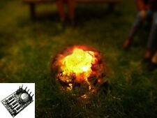 S546 Campfire with LEDs N Gauge + TT with Flicker light control Flickering light