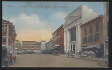 Postcard POUGHKEEPSIE New York/NY  Savings Bank & Business Storefronts 1907?