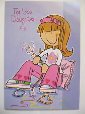 FANTASTIC COLOURFUL MAKING JEWELLERY FOR YOU DAUGHTER BIRTHDAY GREETING CARD