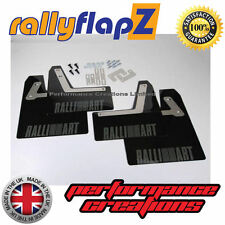 Rally Mudflaps Mitsubishi Evo VII (7) Mud flaps 4mm Black PVC Anthracite Logo