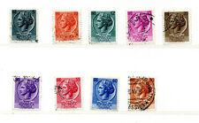 ITALIA REPUBBLICA1953/54 SRTIE  ITALIA TURRITA  FRANCOBOLLI Stamps - Timbres
