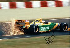 Martin BRUNDLE 12x8 SIGNED Photo F1 Autograph AFTAL COA Ford Benetton Camel