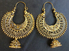 Indian Gold Plated Ethnic Bridal Party Fashion Jhumka Earrings Jewelry Set.