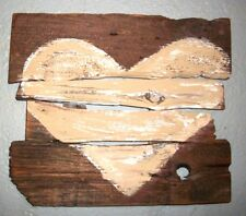 Reclaimed Rustic Pallet Heart Art Barn Wood Beige Primitive Salvaged Distressed