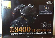 Nikon D D3400 24.2 MP Digital SLR Camera - Black (Kit w/ AF-P DX 18-55mm Lens)