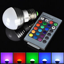 Cheap 3W RGB E27 LED 16 Color Change Light Ceiling Lamp Bulb + IR Remote Control