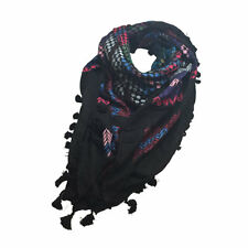 Hirbawi Kufiya Original Men's Classic Arab Scarf One Size Multicolor on Black