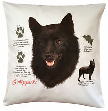 Schipperke History Breed of Dog Cotton Cushion Cover - Perfect Gift