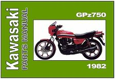 KAWASAKI Parts Manual GPz750 R1 GPz750R Z750R 1982 Replacement Spares Catalog