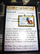 HARRY POTTER TRADING CARD QUIDDITCH CUP TCG RULES CARD ENGLISH MINT