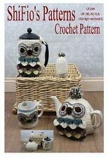 CROCHET PATTERN for OWL TEAPOT COFFEE PRESS MUG COZIES #249 by ShiFio's Patterns