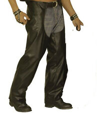 Black Biker Chaps YMCA 1980's Camp Rocker  Cowboy Fancy Dress Costume