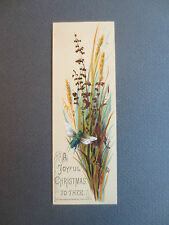 ANTIQUE Greetings BOOKMARK Victorian A JOYFUL CHRISTMAS TO THEE Old