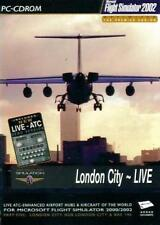 London City Live w/ Manual for Flight Simulator 2002 PC CD game airport xtra BOX