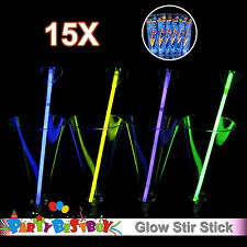 15X Multi Color Glow Stir Stick Light Shining Party Glow in the Dark Glowsticks