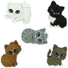 Kitten Kaboodle Plastic Novelty Buttons / Sewing supplies /DIY craft supplies