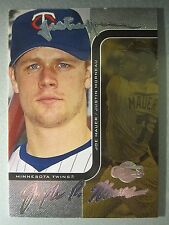 *49/50* 2006 Topps Co-Signers Changing Faces Silver #84B Justin Morneau / Mauer