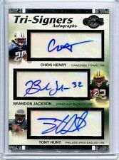 2007 Topps Co-Signers Triple AUTOGRAPH Chris Henry/Brandon Jackson/Tony Hunt/200