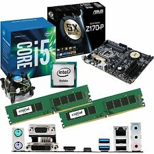 Intel Core i5 6500 3.2ghz & ASUS z170-p & 16gb ddr4 2133 Bundle Crucial