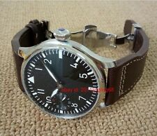 44mm Parnis watch Pilot Hand winding Men's Watch Folding buckle without logo