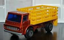 1976 Lesney Matchbox Superfast #71 Cattle Truck Orange and Yellow England