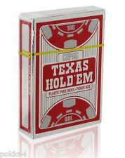 Jeu de 52 cartes POKER COPAG SILVER Edition 100% plastique Argent/Rouge 4 peek