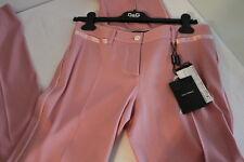 $795 NWT Women's D&G DOLCE & GABBANA Pink Wool & Silk Pants Slacks Trousers 42