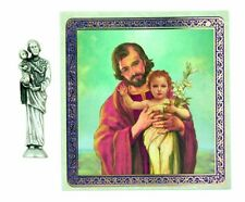 St. Joseph Pocket Statue and Holy Card NEW SKU TC574